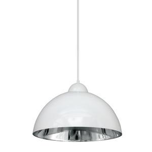 Pendente Caisma Iluminação Esfera Redondo Alumínio Branco/Prata 1 Lamp Bivolt