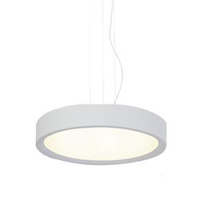 Pendente Spot Line 386/3 Redondo Alumínio Branco 3 Lamp Bivolt