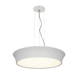 Pendente Spot Line 392/3 Redondo Alumínio Branco 3 Lamp Bivolt