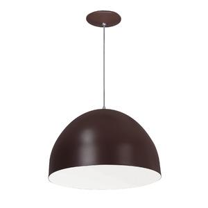 Pendente Spot Line 393/1 Redondo Alumínio Café 1 Lamp Bivolt