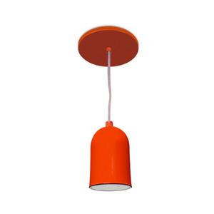 Pendente Spot Line 380/1 Redondo Alumínio Laranja 1 Lamp Bivolt