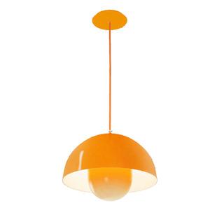 Pendente Spot Line 396/2 Redondo Alumínio Laranja 2 Lamp Bivolt