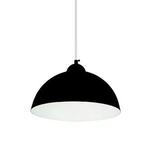 Pendente Caisma Iluminação Esfera Redondo Alumínio Preto 1 Lamp Bivolt