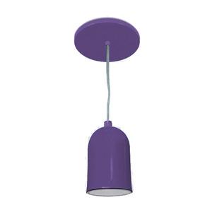 Pendente Spot Line 380/1 Redondo Alumínio Roxo 1 Lamp Bivolt