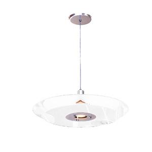 Pendente Pantoja&Carmona Spacial Redondo Alumínio/Vidro Branco 1 Lamp Bivolt