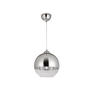 Pendente Blumenau iluminação 88841100 Redondo Alumínio/Vidro Branco/Prata 1 Lamp Bivolt