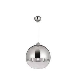 Pendente Blumenau iluminação 88851100 Redondo Alumínio/Vidro Branco/Prata 1 Lamp Bivolt
