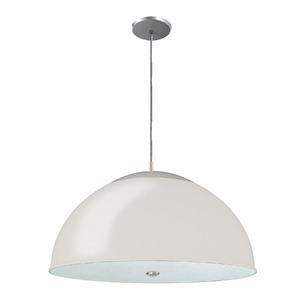 Pendente Pantoja&Carmona 3069 Redondo Alumínio/Vidro Branco 2 Lamp Bivolt