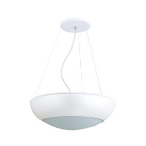 Pendente Pantoja&Carmona Bilha Redondo Alumínio/Vidro Branco 4 Lamp Bivolt