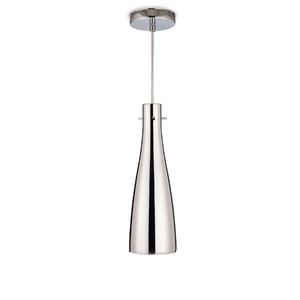 Pendente Blumenau iluminação 88311100 Redondo Alumínio/Vidro Prata 1 Lamp Bivolt