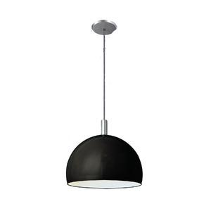 Pendente Pantoja&Carmona 4000 Redondo Alumínio/Vidro Preto 1 Lamp Bivolt