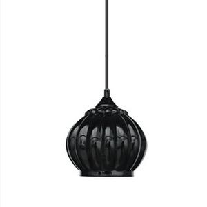 Pendente Caisma Iluminação Braga Redondo Alumínio/Vidro Preto 1 Lamp Bivolt