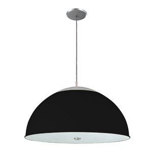 Pendente Pantoja&Carmona 3069 Redondo Alumínio/Vidro Preto 2 Lamp Bivolt