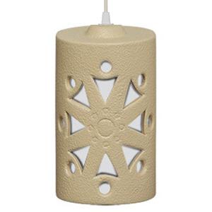 Pendente Alfa Luz 222 Redondo Cerâmica Areia 1 Lamp Bivolt
