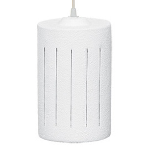 Pendente Alfa Luz 257 Redondo Cerâmica Branco 1 Lamp Bivolt