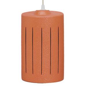 Pendente Alfa Luz 259 Redondo Cerâmica Terracota 1 Lamp Bivolt