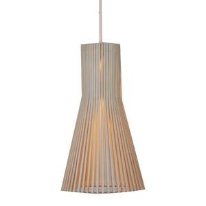 Pendente Damafe Wooden Fillets Nature Redondo Madeira Madeira Crua 1 Lamp Bivolt