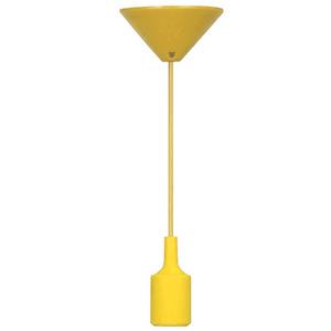 Pendente Taschibra Dot Color Redondo Silicone Amarelo 1 Lamp Bivolt