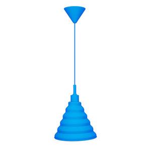 Pendente Taschibra Make Color Redondo Silicone Azul 1 Lamp Bivolt