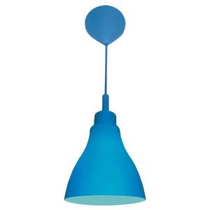 Pendente Taschibra Day Color Redondo Silicone Azul 1 Lamp Bivolt