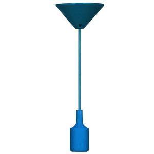 Pendente Taschibra Dot Color Redondo Silicone Azul 1 Lamp Bivolt