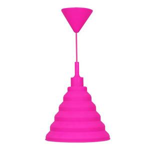 Pendente Taschibra Make Color Redondo Silicone Rosa 1 Lamp Bivolt