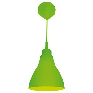 Pendente Taschibra Day Color Redondo Silicone Verde 1 Lamp Bivolt