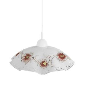 Pendente LLUM Primavera Redondo Vidro Branco 1 Lamp Bivolt