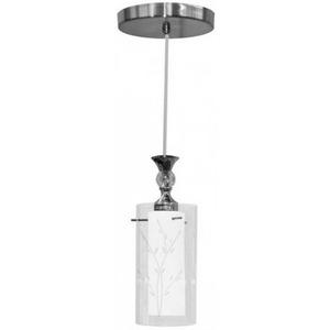 Pendente Taschibra TD292 Redondo Alumínio/Vidro Branco/Transparente 1 Lamp Bivolt