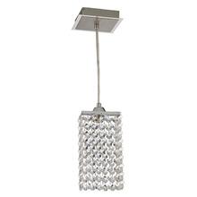 Pendente Blumenau iluminação 88621100 Retangulae Alumínio/Cristal Prata 1 Lamp Bivolt