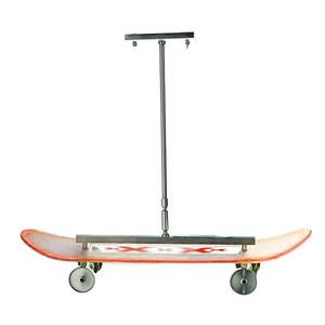 Pendente Skate Alumínio/Vidro Vermelho Thema Star