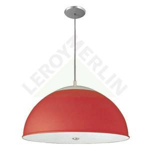 Pendente Vidro Superior Alumínio 200x42cm Vermelho Pantoja