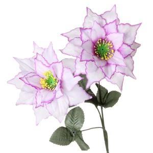 Peonia X3 60cm Branca Lavanda Flor Arte