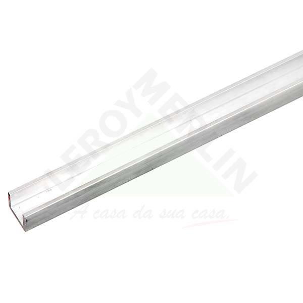 Perfil u aba desigual para porta de correr 1m alum nio - Perfil aluminio u ...