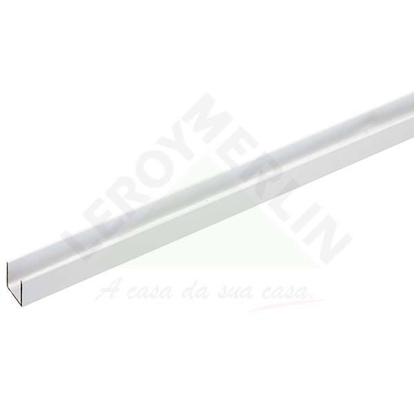 Perfil u aba igual para porta de correr 3m alum nio branco - Perfil aluminio u ...