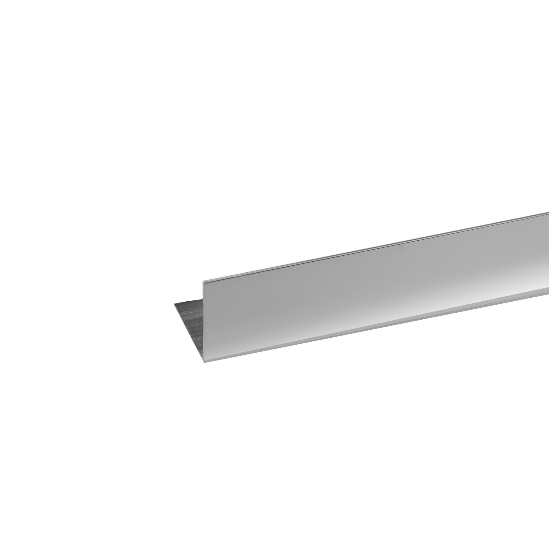 Perfil Canto Alumínio Anodizado Cromado 1mx2cm