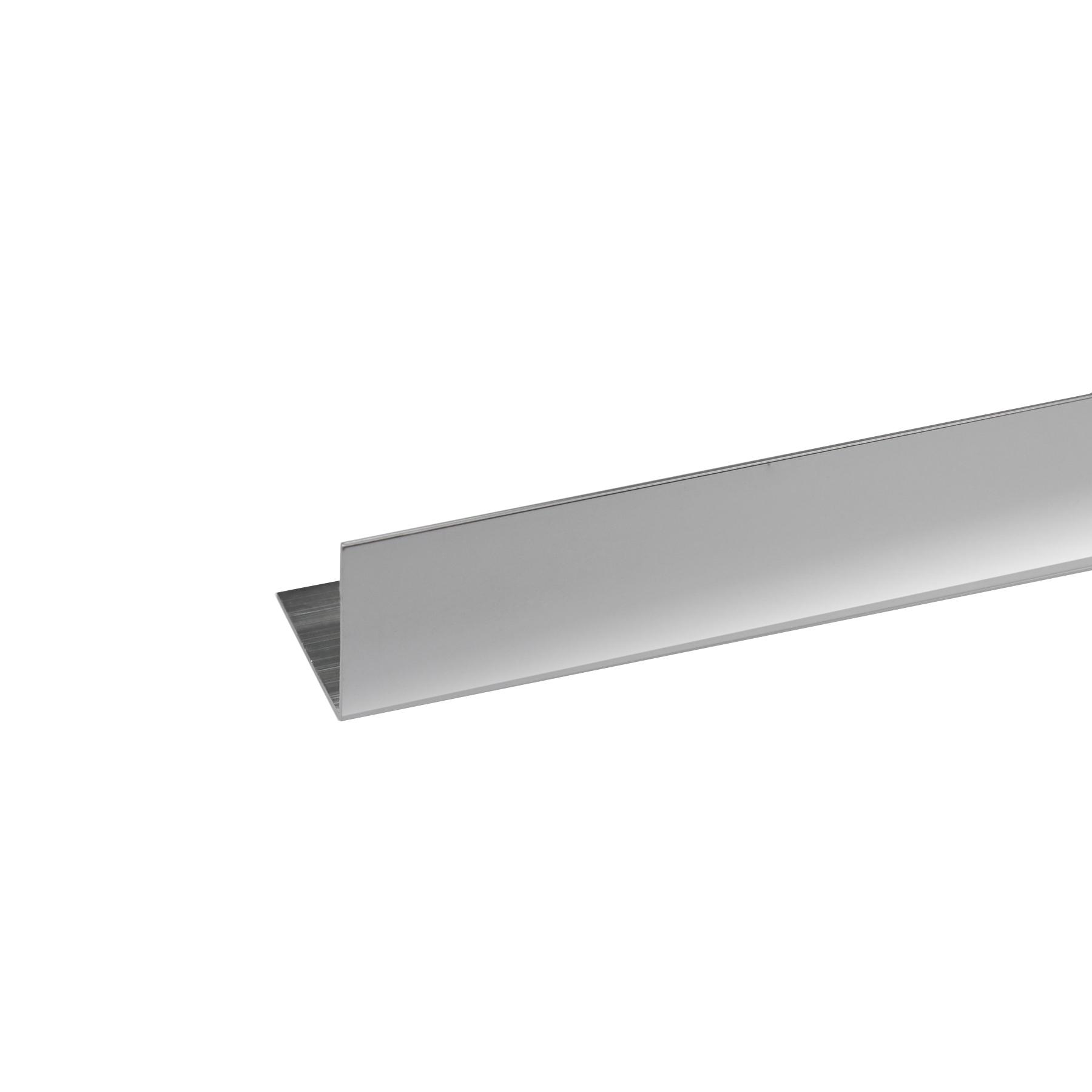 Perfil Canto Diferentes Alumínio Anodizado Cromado 2mx1,5cm