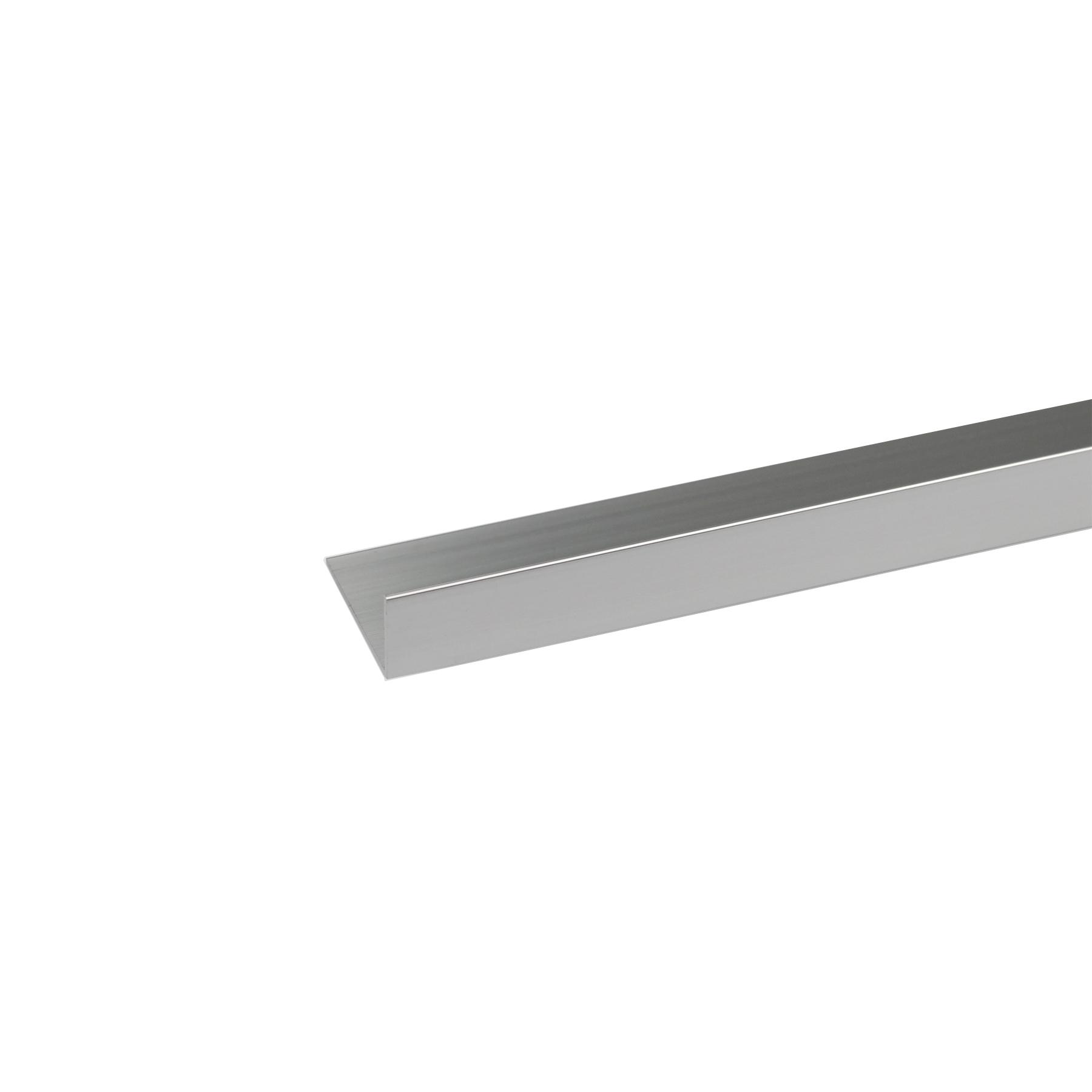 Perfil Cantos Diferentes Alumínio Anodizado Cromado 1mx3cm