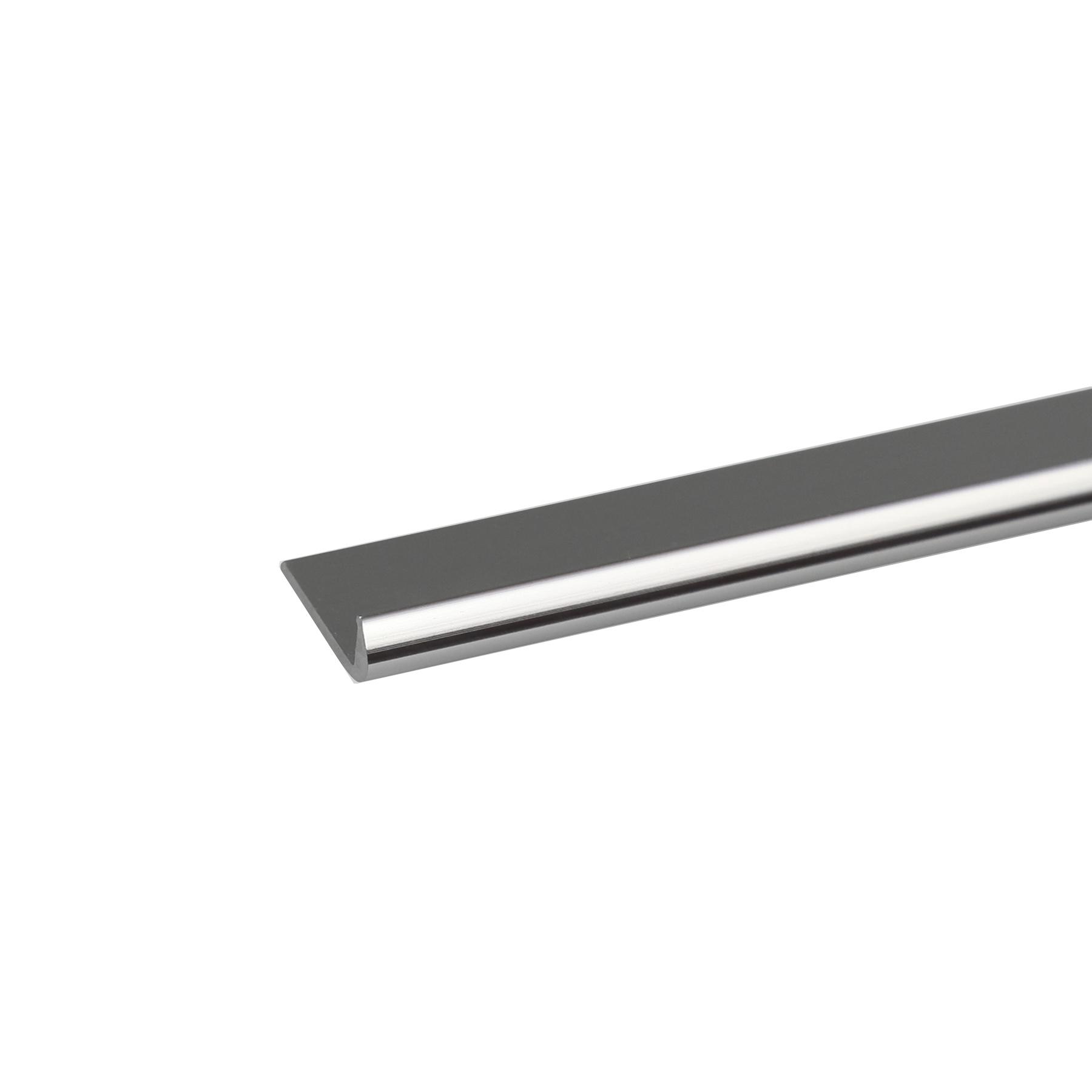 Perfil J Alumínio Anodizado Cromado 1mx1,8cm