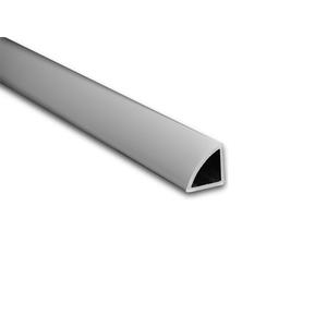 Perfil de Transição para Parede e Piso de Sobrepor 3M Fosco 1,2cm Alumínio