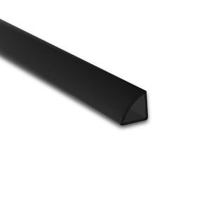 Perfil de Transição para Parede e Piso de Sobrepor 3M Preto 1,2cm Alumínio