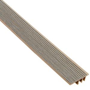 Perfil Piso Parede PVC Tecno Nogal Gris 1,80m Eucafloor
