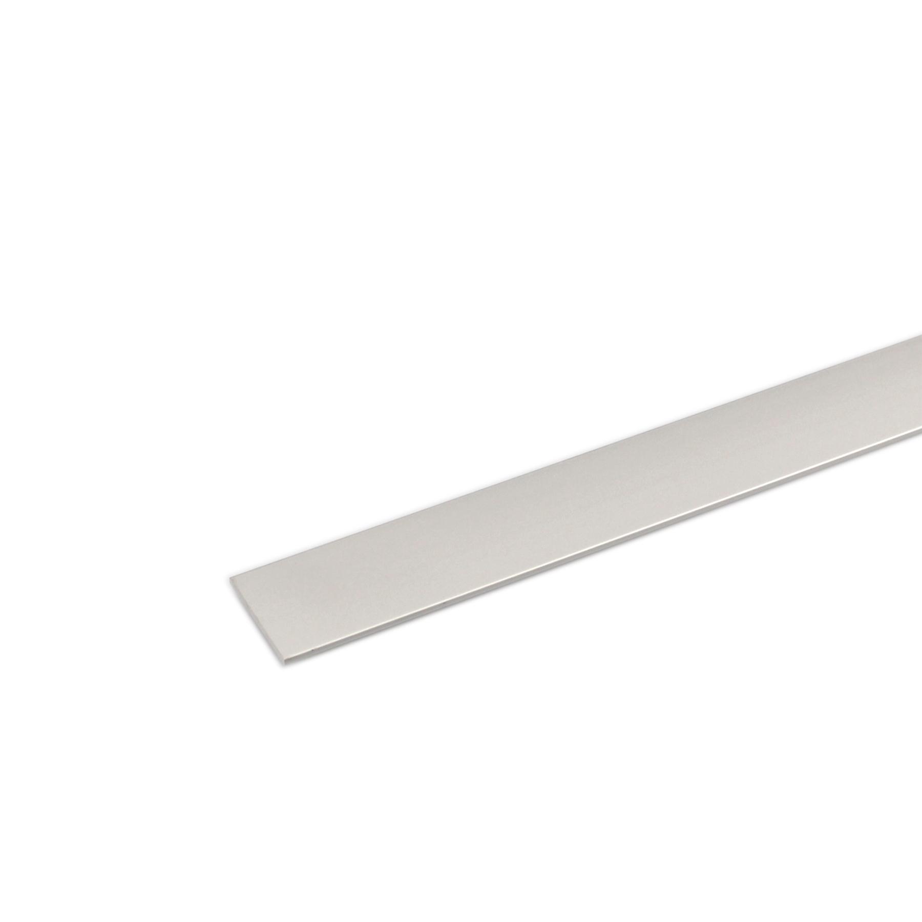 Perfil Plano Alumínio Anodizado 1mx3cm