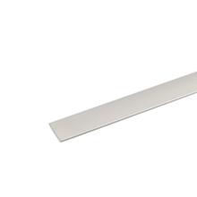 Perfil Plano Alumínio Anodizado Cromado 1mx2,5cm