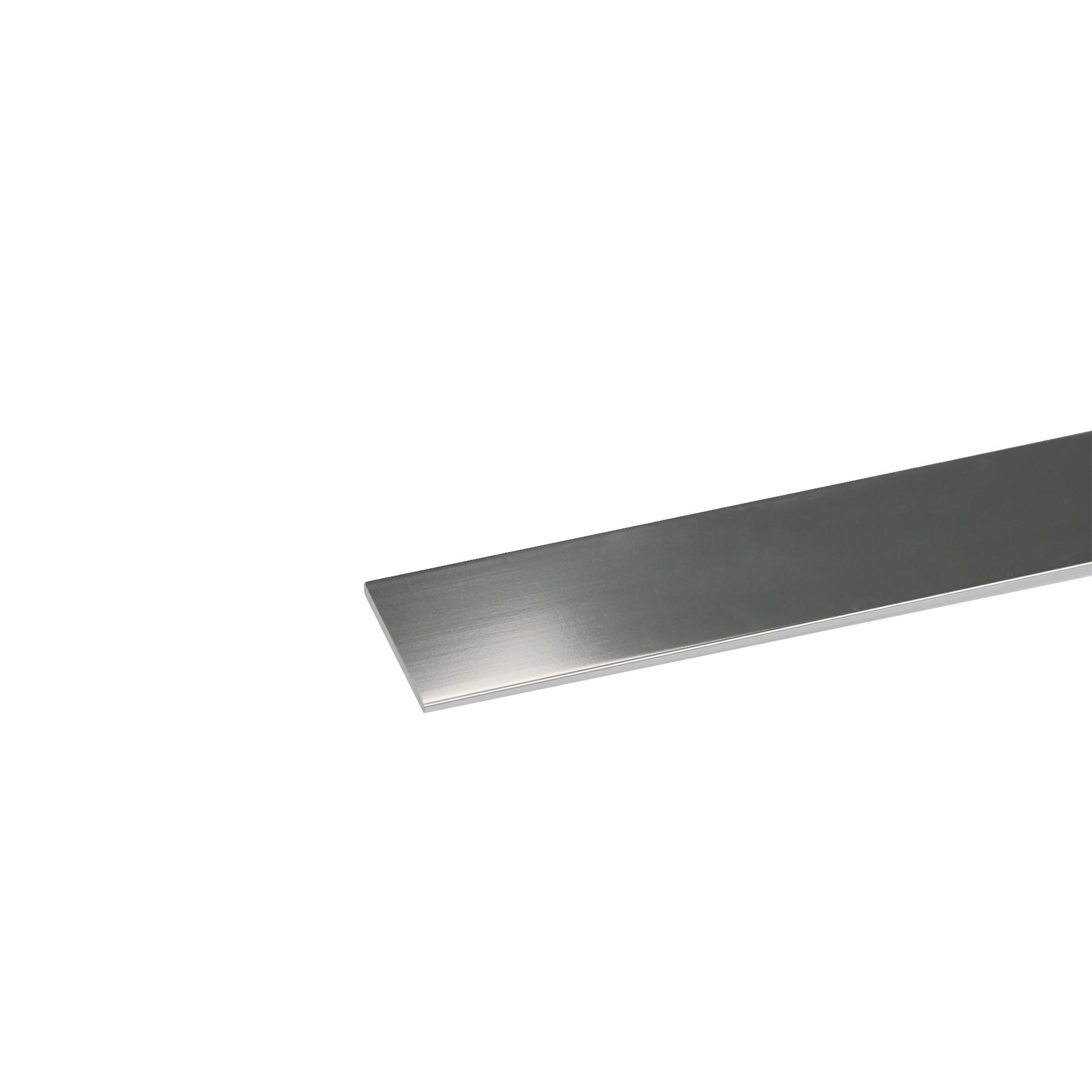 Perfil Plano Alumínio Anodizado Cromado 1mx2cm