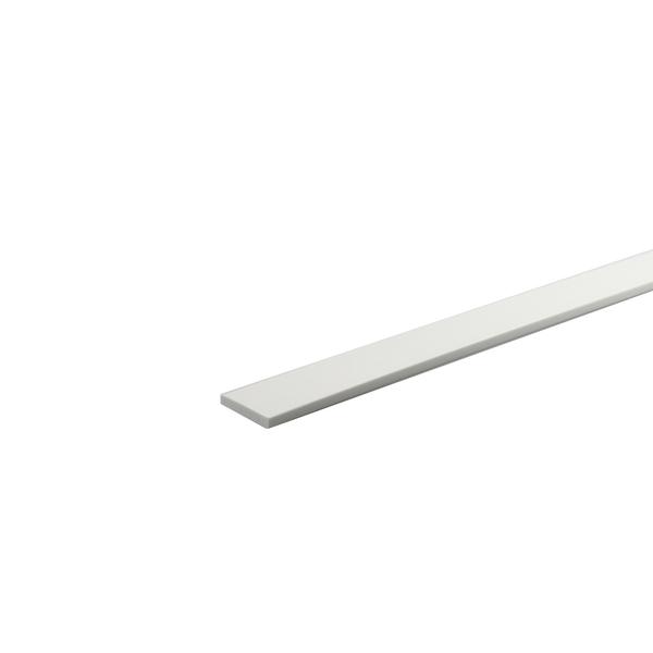 Perfil Plano PVC 1mx3cm