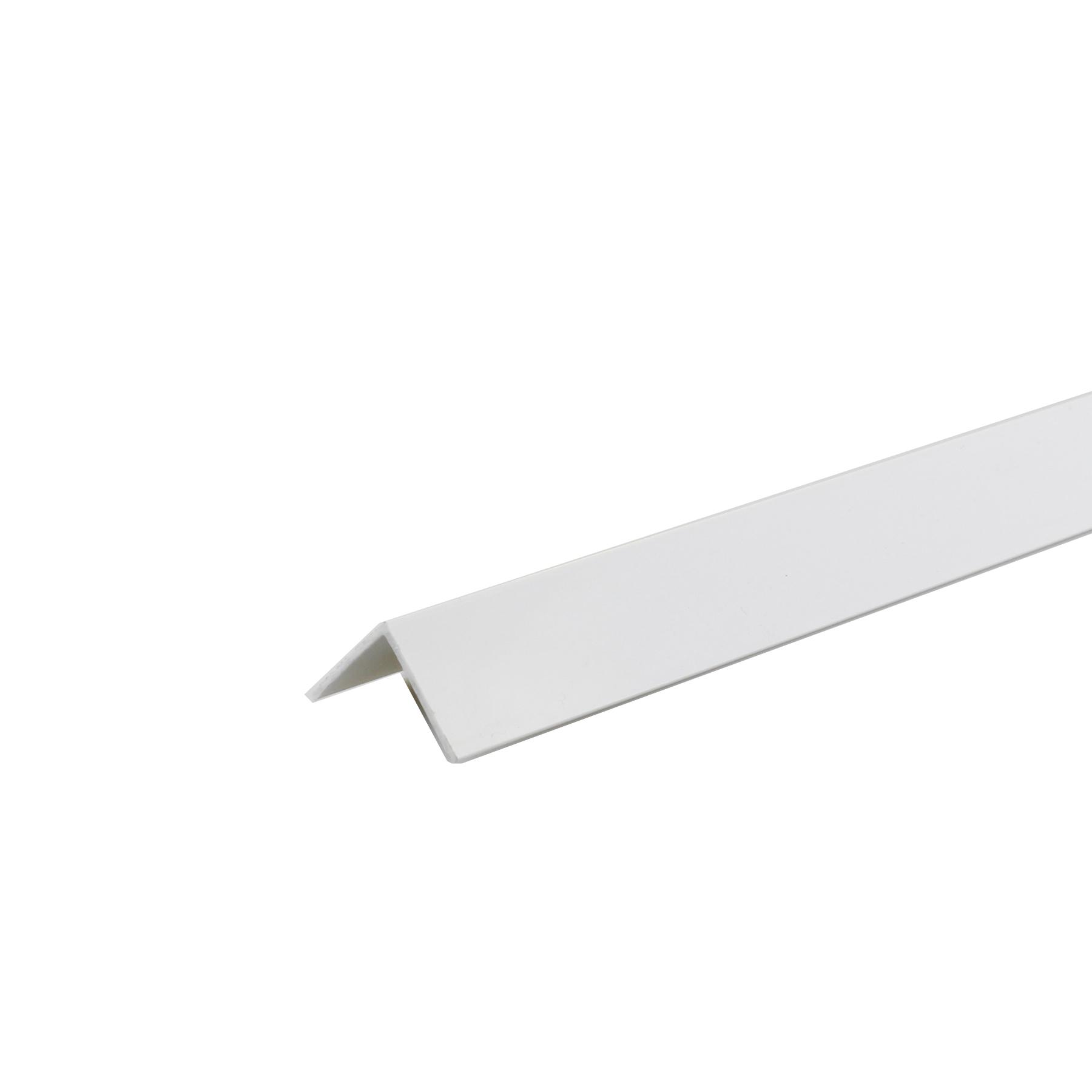 Perfil Plano PVC Porcelana 1m