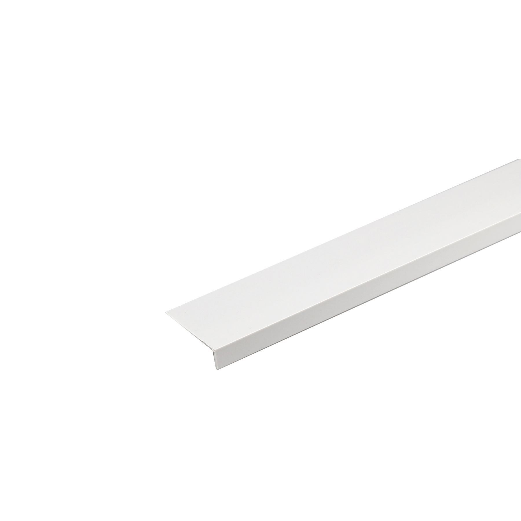Perfil Plano PVC Porcelana 1mx1,7cm