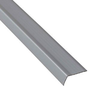 Perfil pvc sobrepor formato em l grafite natural 4x1 for Perfil u aluminio leroy merlin