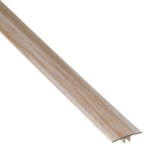 PERFIL T PVC DECAPE BLANCHE COMP 180,00 CM LARG 3,40 CM ESPES 0,97 CM TECNO EUCAFLOOR